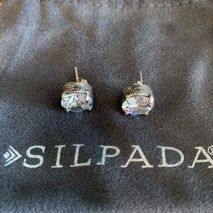 """Silpada """"crown jewel"""" cubic zirconia earrings"""